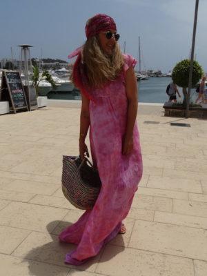 Vestido cuba tiedye rosa